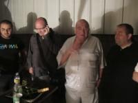 מימין: אבי שטייניץ שף, ותיק בשומן. שאול אברון, לא-שף ותיק בשומן ושניים עם עתיד